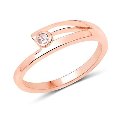 rose gold plated sterling silver and morganite ring