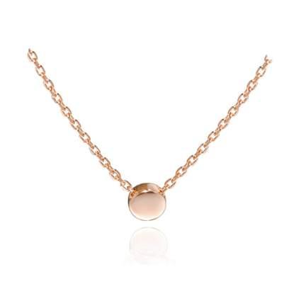 rose gold tiny dot necklace