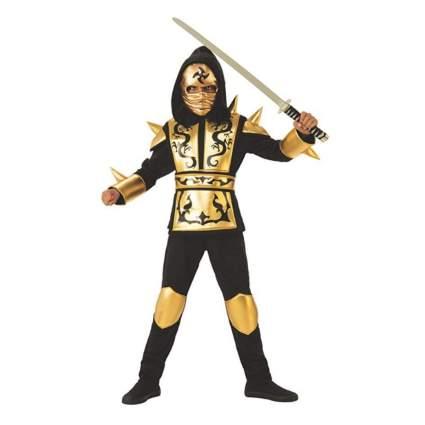 rubies gold boys ninja costume