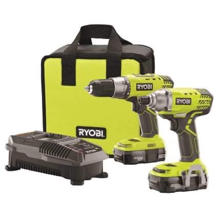 Ryobi P1832 18V One+ Handheld Drill Kit