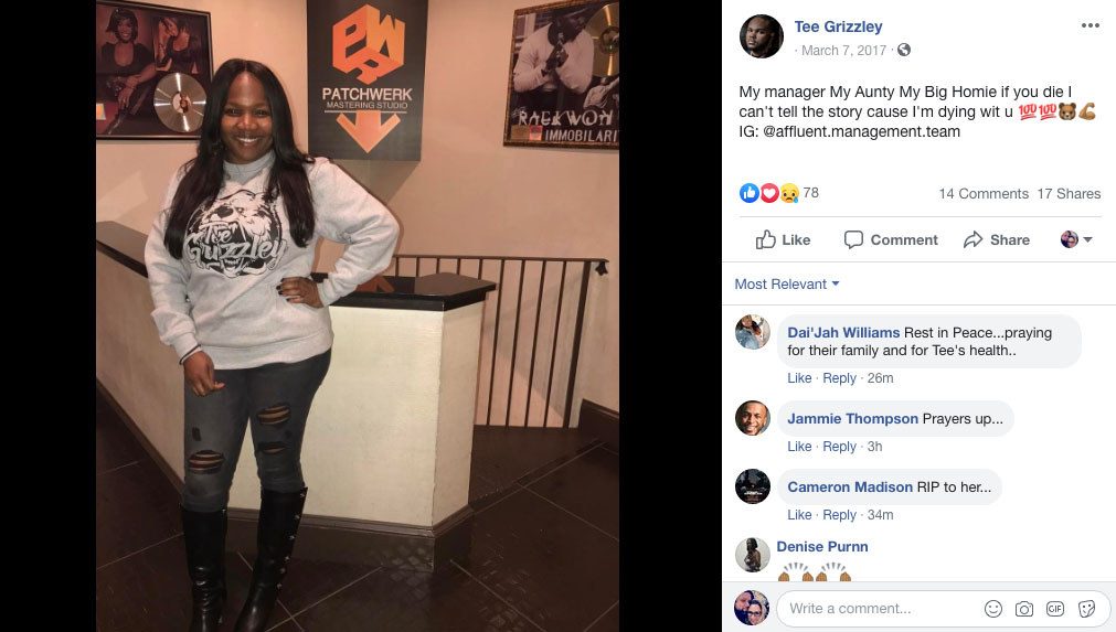 Tee Grizzley Facebook page