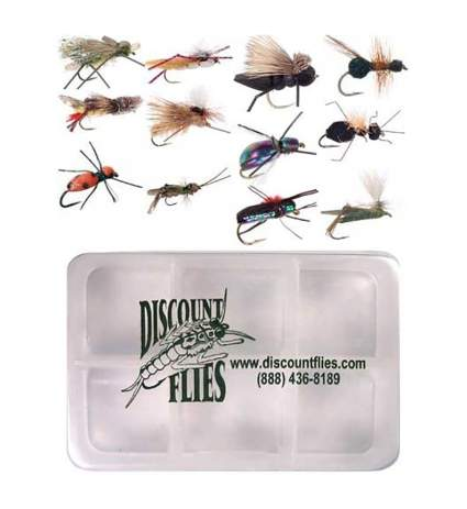 discountflies terrestrial dry fly collection