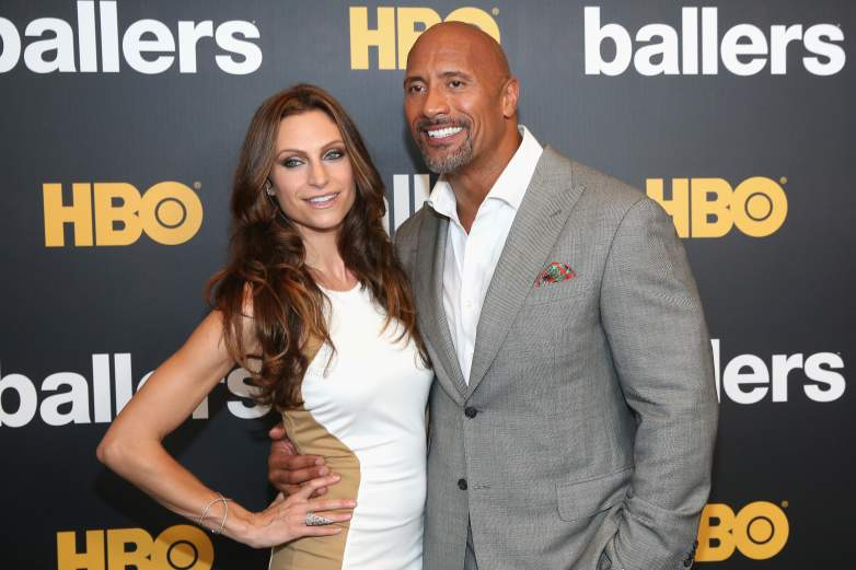 The Rock and his wife