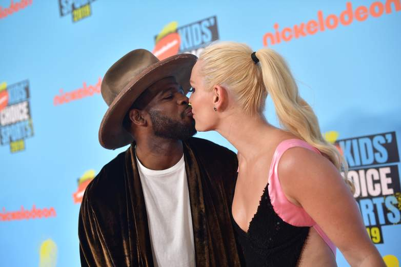 P. K. Subban and Lindsey Vonn at the Nickelodeon Kids' Choice Sports Awards in July of 2019.