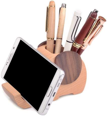 Wooden Pen Cup/Pen Holder Desk Organizer