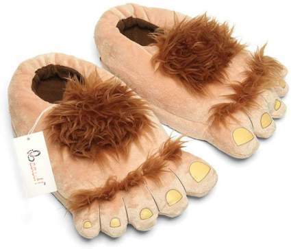 Womens Furry Monster Adventure Slippers,