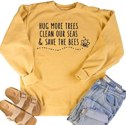 Save The Bees Women's Letter Print Sweatshirt
