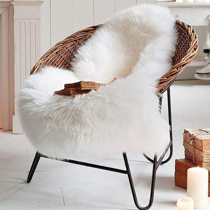 Super Soft Fluffy Shaggy Home Decor Faux Sheepskin Silky Rug