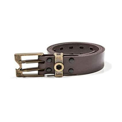 brown leather men's snow tool belt