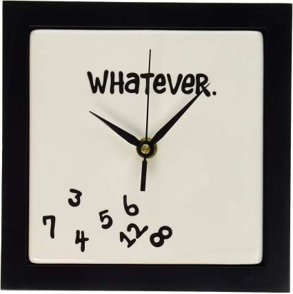 Enesco Whatever. Scrambled Numbers Wall Clock