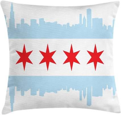 Chicago Skyline Throw Pillow Cushion Cover