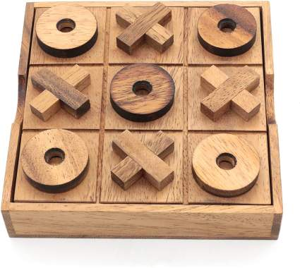 Tic Tac Toe Wood Coffee Tables Family Games
