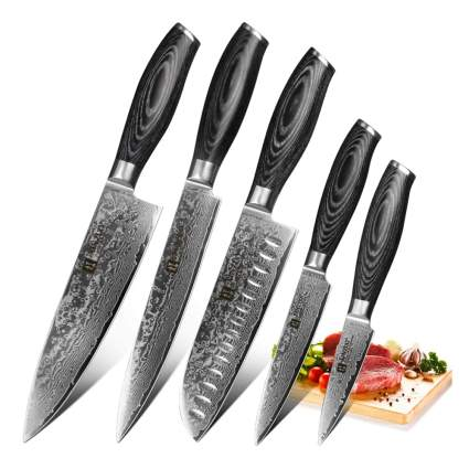 damascus steel kitchen knife set
