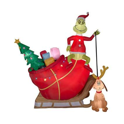 Grinch lawn inflatable decoration