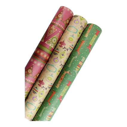 Retro wrapping paper