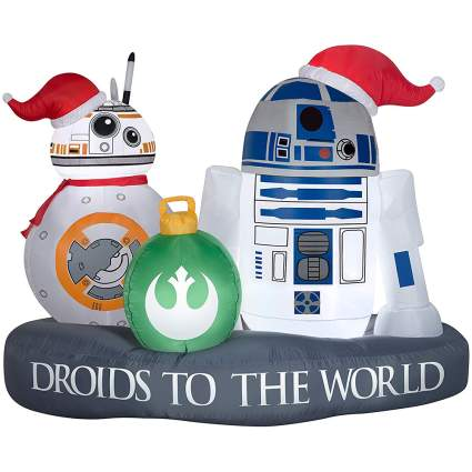 Star Wars Christmas inflating decoration