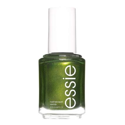 Metallic green nail polish
