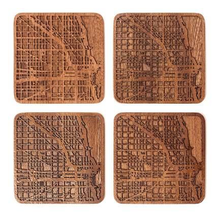 Chicago Map Coaster