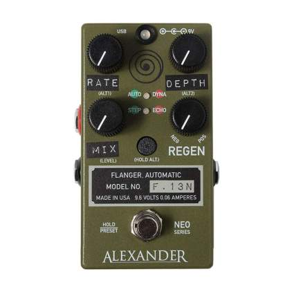 alexander f.13 flanger pedal