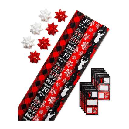 red and black wrapping paper