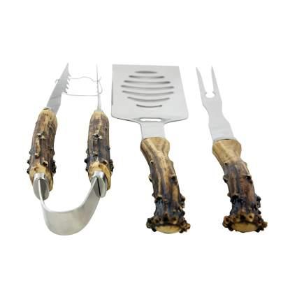 antler handle bbq tools