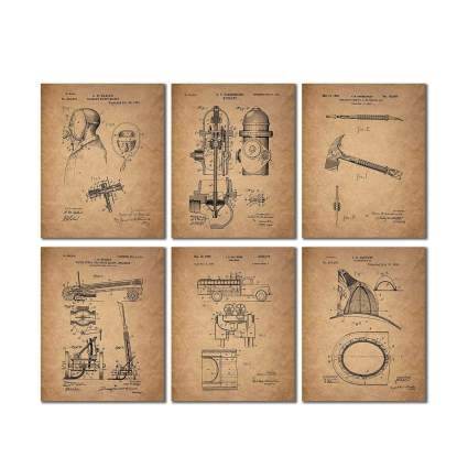 bigwig photos fire patent prints firefighter gifts