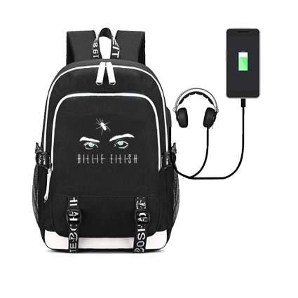 Billie Eilish Backpacks Merch USB Charging Daypack