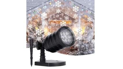 brightown snowfall laser light