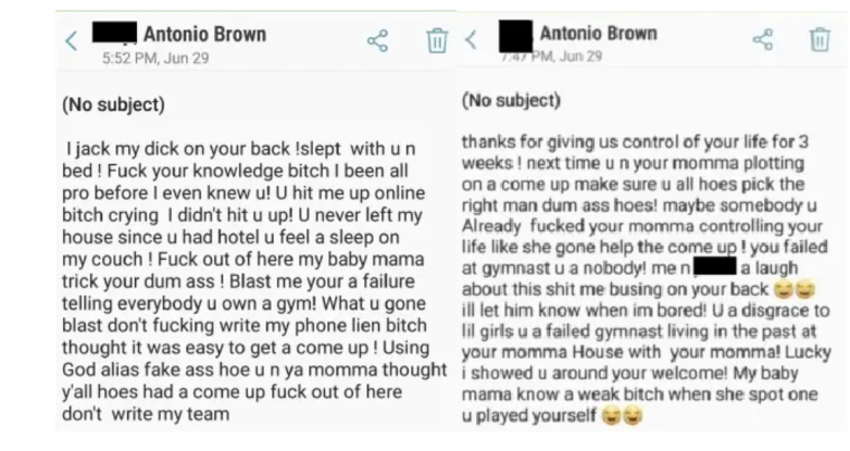 antonio brown text messages