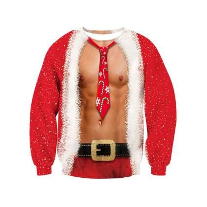 buff funny christmas sweater