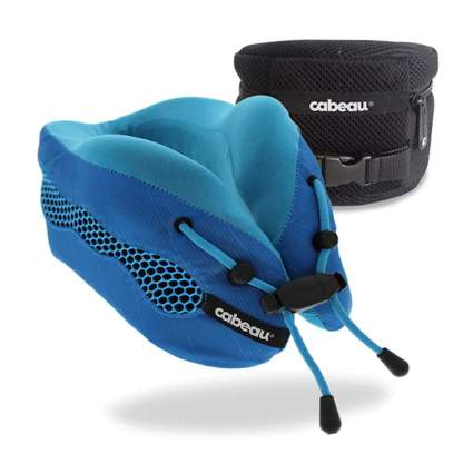 blue cooling airflow travel pillow