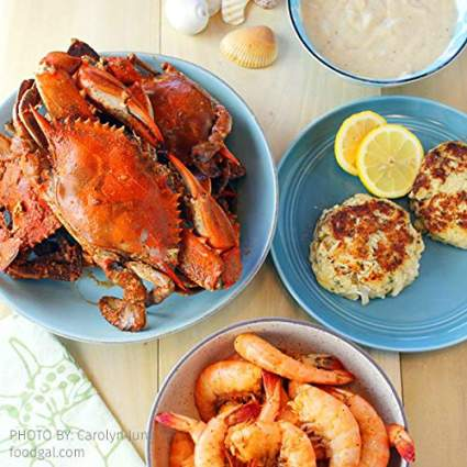 Cameron's Seafood Maryland Blue Crabs Crabcakes and Spicy Shrimp Sampler