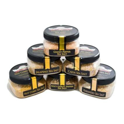 Caravel Gourmet Spicy Hot Sea Salt 6-Pack
