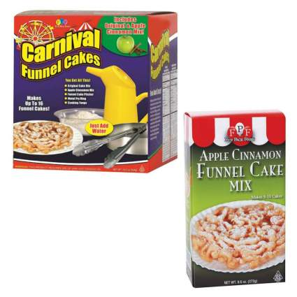 Carnival Deluxe Funnel Cake Kit Apple Cinnamon Funnel Cake Mix