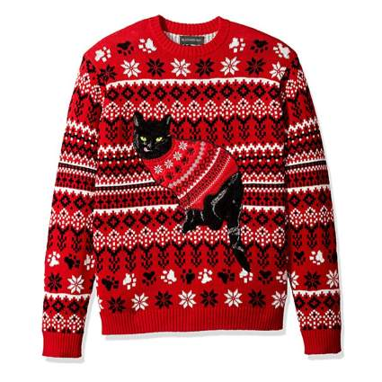 cat in a christmas sweater christmas sweater