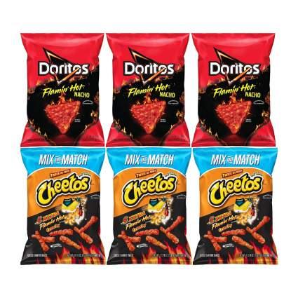 Cheetos Crunchy XXTRA Flamin' Hot and Doritos Flamin' Hot Nacho Cheese Party Size Pack