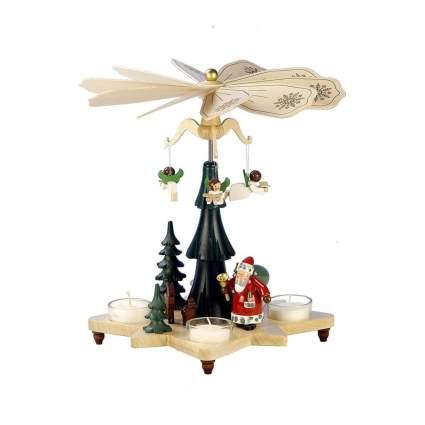 christian ulbricht santa and angels christmas pyramid