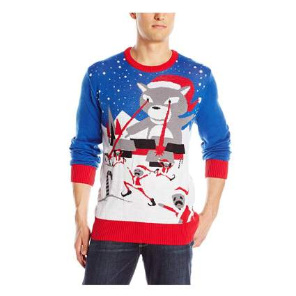 Christmas cat attack sweater