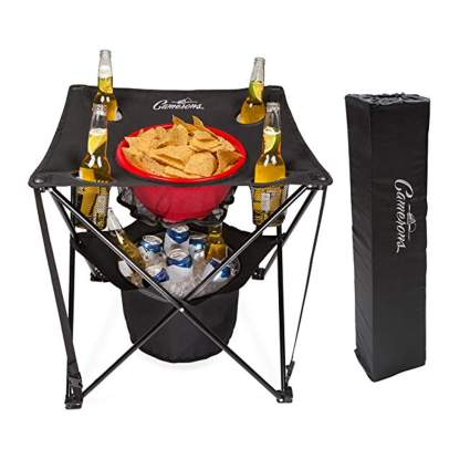 collapsible tailgating table with cooler
