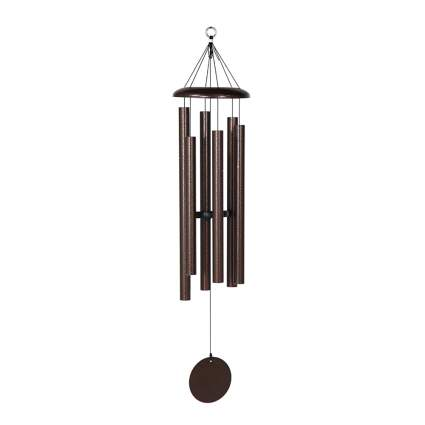 large copper outdoor windchime