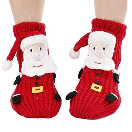 crazy Christmas socks with 3d santa