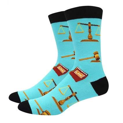 crazy christmas socks for lawyers