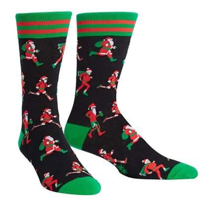 crazy Christmas socks for runners