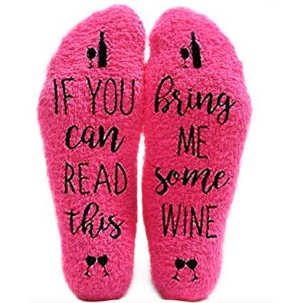 crazy christmas socks for wine lovers