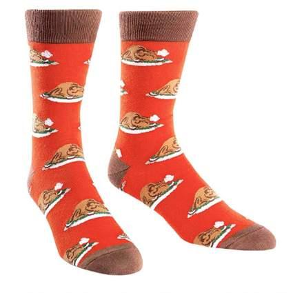 crazy christmas socks with turkey