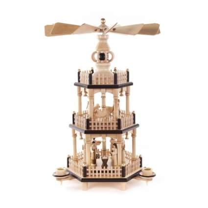 dregeno seiffen nativity three tier christmas pyramid