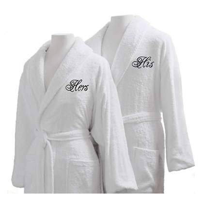 egyptian cotton his and hers robes