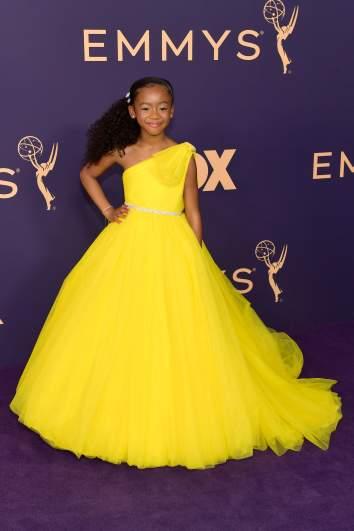 Faithe C. Herman arrives at the 2019 Emmy Awards