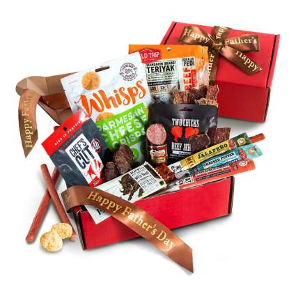 Father's Day Jerky and Meat Snack Gift Box