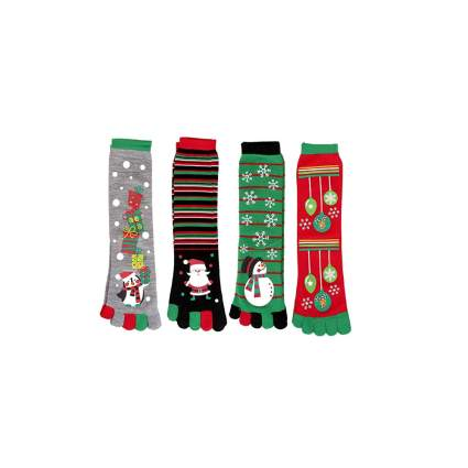 four pairs christmas socks